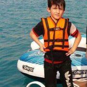 محمد امیر کوچکترین شرکت کننده در مسابقات جت اسکی اسلالوم جام حججی در اهواز
